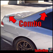 COMBO (Fits: Honda Prelude 1997-01) Rear Roof Wing & Trunk Spoilers 284R/244L