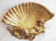 Antique Art Nouveau Nude Lady Bronze Tray. Business Card? Ashtray?