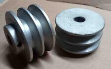 puleggia alluminio doppia gola cinghia trapezoidale spaccalegna vite conica