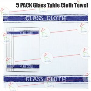 5 PACK Glass Table Cloth Towel Kitchen Cotton Restaurant Catering Clean Bar Cafe