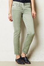 NWT AG Stevie Ankle Jeans Slim Straight Sage Green 31 W Anthropologie