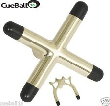 Alta Qualità Pool Snooker biliardo, Snooker TABLE CUE BRASS CROSS & Spider titolare poggia
