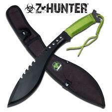 Z-Hunter Zombie Bio Hazard Machete Green Cord Wrap Handle #080
