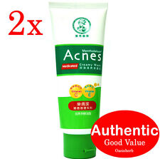 2X Mentholatum Acnes Medicated Creamy Wash 100g (New!)