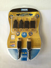 Laser Firewire 5 in 1 Cable Kit 24 Karat Plated Contacts 1.8m Cable CB-GXQF-06