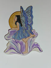 Fairy Original Painting on Wood American craft Signed & Dated