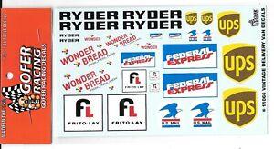 GOFER Racing, Vintage Delivery, Food Vendor, Van Decals 1/24-25 11066