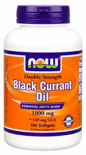 Now Foods Double Strength Black Currant Oil 1000mg 140mg GLA Fatty Acid