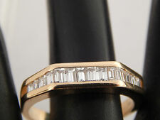 Stunning Women Baguette Diamond Wedding Band 1.0 tcw  G/VS2 18k Yellow Gold Ring