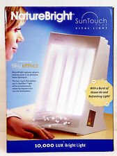 NaturalBright SUNTOUCH PLUS Light Ion Therapy Lamp 10,000 LUX Sky Effect Tech