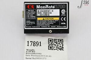 17891 BROOKS MASS RATE 5700 FLOW METER, 0 - 200 ML/MIN N2 5700AE1A1AA