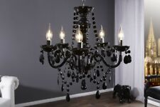 Chandelier Light Nero 5 Arm Black Hanging Lamp 54cm x 53cm (Hxø) New Wow 2