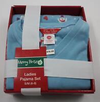 Blue Star Clothing Co Blue Polar Bear Fleece 2 Piece Pajama Set Sz S/M 6-8