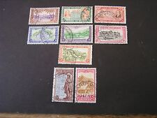 COOK ISLANDS. SCOTT # 131-139(9), 1949 PICTORIALUP TO $2.00 VALUE ISSUE USED
