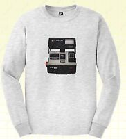 Vintage Camera Long Sleeve T-shirt Instant Retro Tee Hipster Indie Insta Top