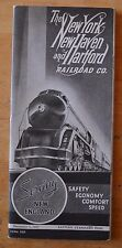 Vtg Train Times Table Railway New York & New Haven December 5 1937