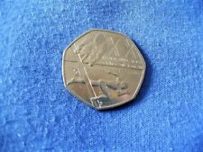 50 Pence Commonwealth Games Glasgow 2014 Circulated Coin XX9