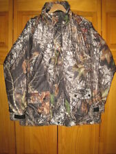 Cabela's Mossy Oak 3 in 1 camo hunting jacket kids boys XL brown insulated lined