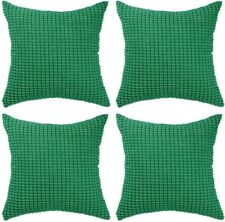 "4 Decorative Throw Pillow Covers 20""x20"" Green Soft Large Cushion Cover Zipped"