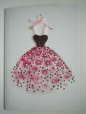 C.R.GIBSON ~ EMBELLISHED FANCY PARTY DRESS BIRTHDAY GREETING CARD + ENVELOPE