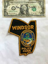 Rare Windsor Connecticut Police Patch Un-sewn great shape