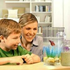 Kids Fish Tank Self Cleaning Small Desktop Fish Aquarium LED I6B3 Easy W4R0