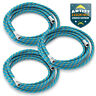 """3pc 6' Braided Airbrush Air Hose 1/8"""" to 1/8"""" BSP Adaptor Fits Most Brands"""
