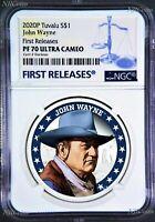 2020 John Wayne $1 Tuvalu First Releases NGC PF 70 Ultra Cameo