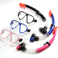 Adult Scuba Anti-Fog Goggles PVC Mask Snorkeling Swimming Diving Glasses Snorkel