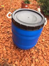 HDPE Fass Deckelfass 50 Liter Floß Tonne m. Schraubdeckel Regenwasser Fass Blau