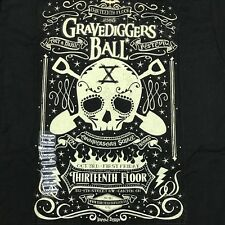 NEW 13th Floor Gravediggers Ball T Shirt Black Sz Medium Rock N Roll