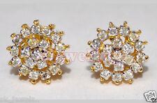 1.07ct DIAMOND 14k YELLOW GOLD ANNIVERSARY EARRING