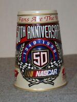Vintage Anheuser-Busch Budweiser Nascar 50th Anniversary Beer Stein Mug