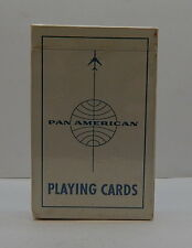 Pan Am Airways Globe White Background Blue Ink Playing Cards Deck SEALED R12729