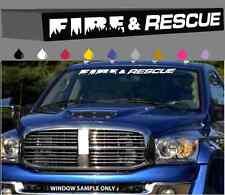 "Fire & Rescue Windshield/Window Decal Banner Firefighter Custom Design 40"""