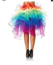 Leg Avenue Rainbow Layered Organza Bustle Skirt