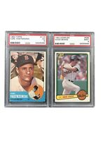 1963 Topps Carl Yastrzemski PSA 5 And 1983 Donruss Wade Boggs Rookie RC PSA 9
