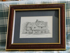 "Framed Clark M. Goff ""The Witch House - Salem"" Print"