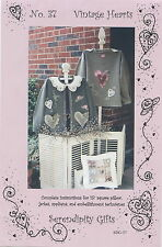 Vintage Hearts Shirt Applique & Embellishment Pattern by Serendipity Gifts SDG37