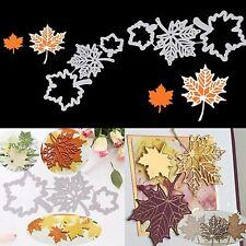 3PCS Maple Leaf Metal Cutting Dies Scrapbooking Card Embossing Stencil Craft DIY