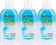 THREE PACKS of Garnier Simple Essentials 2in1 Eye Make Up Remover 200ml