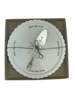 NEW Mud Pie Circa White Best Day Ever Ceramic Plate Server Set Wedding