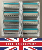 Genuine Wilkinson Sword Quattro Titanium Sensitive Razor Blades 4 8 12 pack