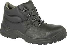 Grafters M9536A+ Unisex Mens Womens Leather Chukka Safety Boots Black (+ Sizes)
