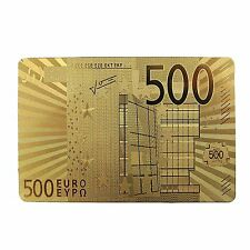 500 Euro 24K Gold Plated Playing Cards (Gold)