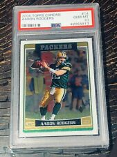 2006 🔥Topps Chrome AARON RODGERS 2nd year card 14 PSA 10 HOT CARD BGS RC POP 29
