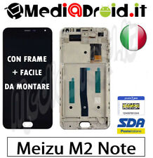 MEIZU M2 NOTE MEILAN NERO VETRO TOUCH SCREEN FRAME DISPLAY LCD SCHERMO COMPLETO