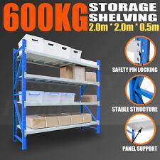 2Mx2Mx0.5M LONG SPAN Steel Garage Storage Warehouse Shelf Shelving Racking 600KG