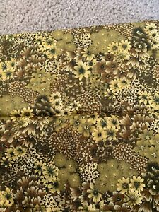 """21"""" Floral By BETH BRUSKE cotton Fabric David Textiles (92v)"""