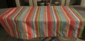 Set of 2 Pillow Shams Reversible Floral & Stripes Tropical Cotton Standard 17730